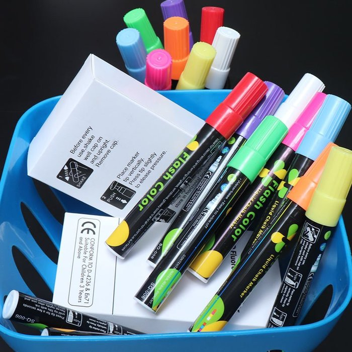 聚吉小屋 #下標聯繫客服改價黑板熒光板玻璃板專用熒光筆熒光標記筆發光板電子板彩色筆黑板筆