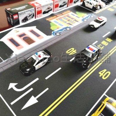 警察的正義 車車墊( TOMICA 迴力車 超跑 小汽車 機器人 樂高)《1:64》模型車主題地墊
