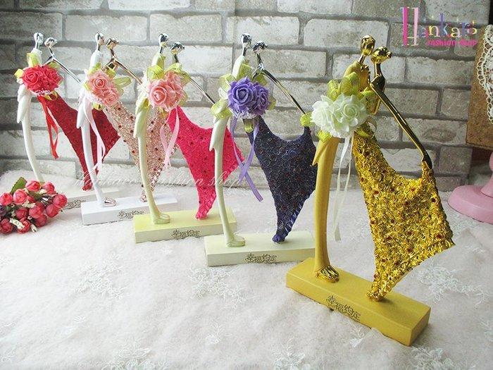 ☆[Hankaro]☆ 婚慶系列商品新郎新娘精緻浪漫婚禮含情脈脈電鍍色人型擺飾新婚禮品