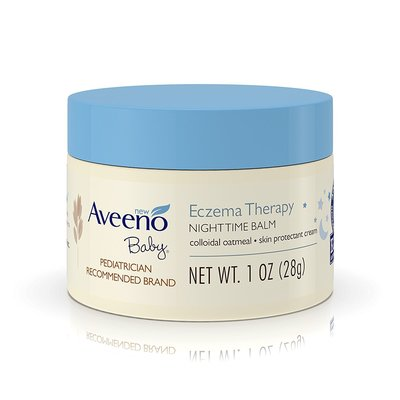 ~雷恩的美國小舖~Aveeno Eczema Therapy 燕麥 寶寶夜間舒緩保濕乳膏 無香 異敏 28g 隨身瓶