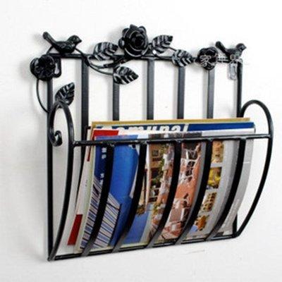 雜志架報刊架書報架資料架落地歐式鐵藝 jy宣傳展示架子立體書架