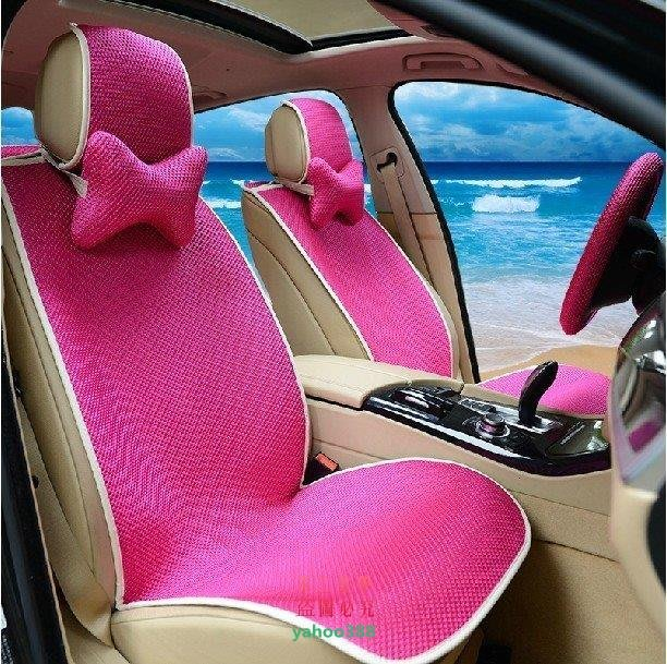 美學136免捆綁汽車坐墊可愛女士座墊夏季冰絲涼墊四季通用汽車~1分鐘快❖0471