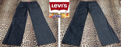 【J&K嚴選】LEVIS 寬管牛仔褲 女款 工作褲 高磅款  直筒- 顏色:灰黑 -30腰【零碼特價】LV來自星星的你