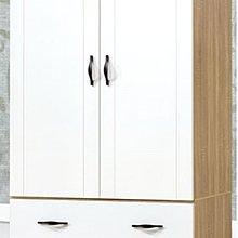 【DH】貨號HY363名稱《原切白》3X6尺木心板衣櫃(圖一)內附鏡.備有3X7尺4X6尺4X7尺可選.主要地區免運費