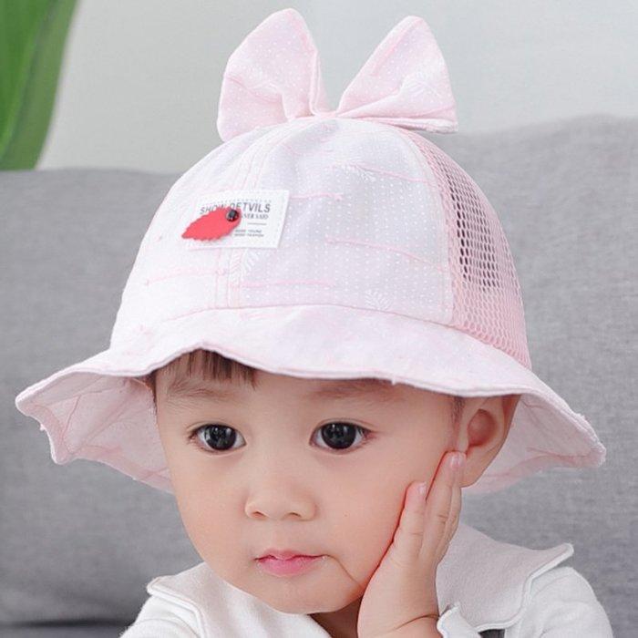 嬰兒帽 子春秋 女寶寶 遮陽帽 薄款漁 夫帽1 -2- 3歲男 童夏季 盆帽太 陽帽 帽子 防曬帽  兒童帽子 太陽帽 正韓