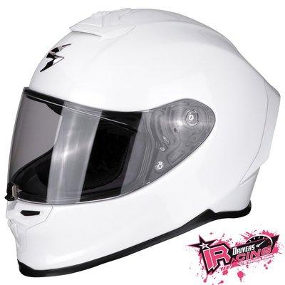 ♚賽車手的試衣間♚ Scorpion® EXO R1 Air Solid White 頂級 最新 安全帽