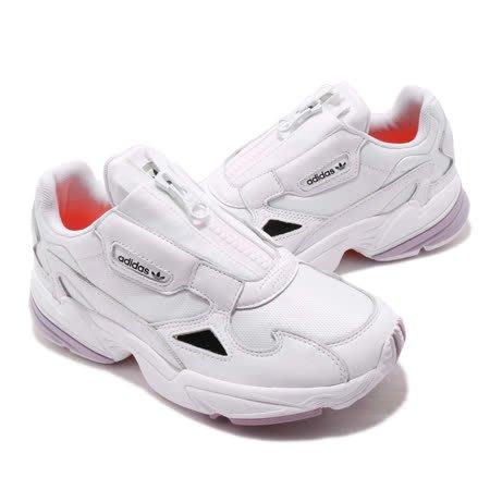 Washoes adidas Originals Falcon ZIP W 白 紫 EF2047 拉鍊 老爹鞋 女鞋05