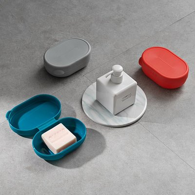 299起售-旅行便攜密封香皂盒大號創意帶蓋鎖扣防水肥皂盒衛生間皂盒#分裝瓶#化妝工具#旅行清潔