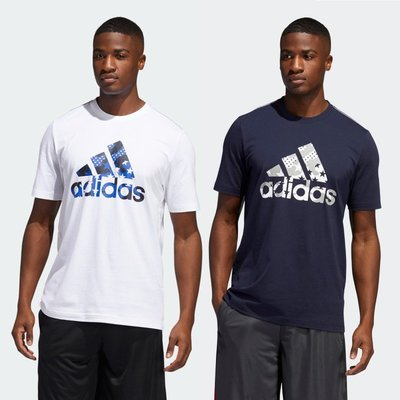 【Dr.Shoes 】Adidas AMERICANA 美國  男款 運動T恤 短T 白色GK3621 深藍GK3623