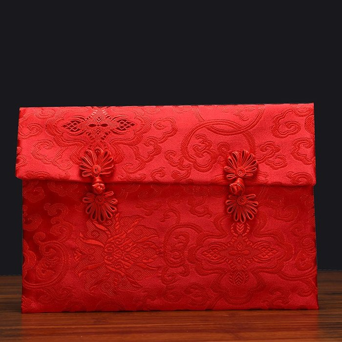 奇奇店-熱賣款 復古萬元紅包袋手工布藝利是封 創意大紅包結婚婚禮禮金封(量大諮詢客服優惠喔)
