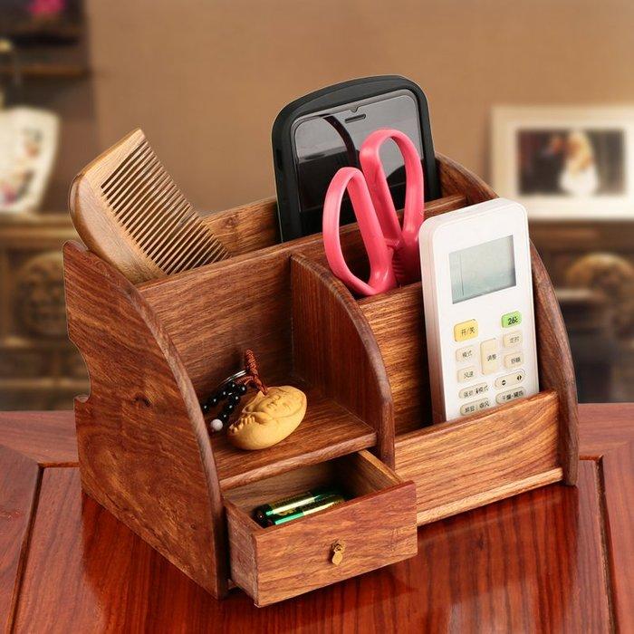 紅木工藝品 木制化妝品辦公桌面收納盒紙巾盒 實木質遙控器置物架