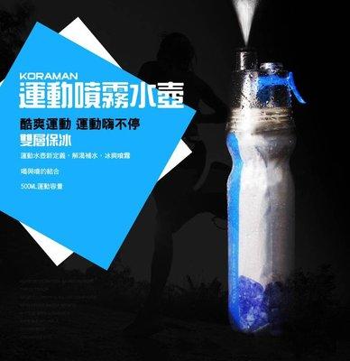 【捷斯特3C】 運動型噴霧水壺(軟壺) 水瓶  保冰