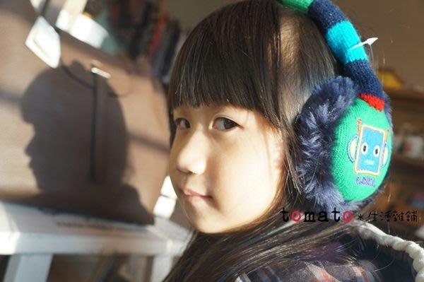 ˙TOMATO生活雜鋪˙韓國進口雜貨繽紛彩色毛線刺繡機器人絨毛保暖耳罩