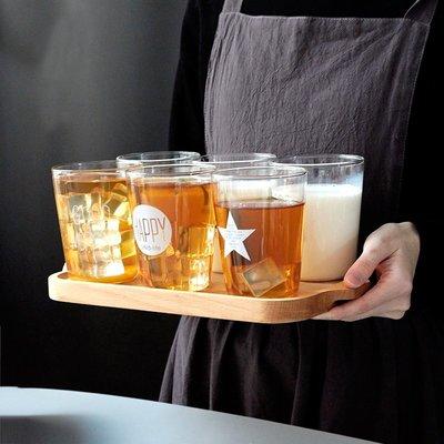 茶具 水壺 馬克杯 玻璃杯 日式日式玻璃早餐杯 家用牛奶杯耐熱透明水杯創意果汁杯咖啡杯茶杯子