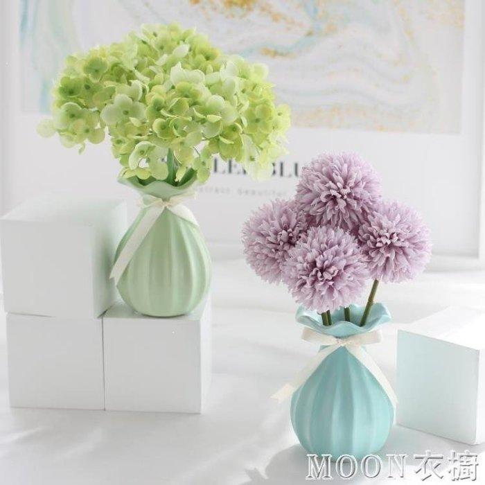 麥麥部落 仿真滿天星繡球假花束家居客廳餐桌裝飾小清新風風盆栽套裝擺件擺設MB9D8