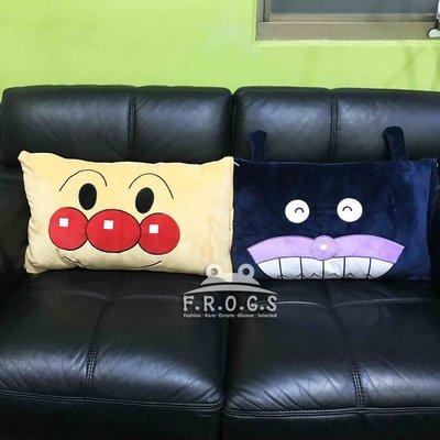 F.R.O.G.S MB0017日韓動畫麵包超人細菌人大頭造型枕頭套枕套枕芯套床套靠枕抱枕可拆洗(現+預)