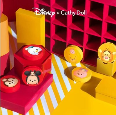 CC Powder Pact SPF40 PA+++ 4.5g Cathy Doll Disney Tsum Tsum #21 Light Beige