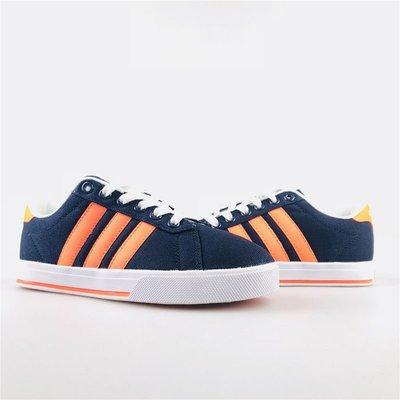 D-BOX  ADIDAS NEO GVP CVS 帆布鞋 深藍條紋橘 三葉草 愛迪達 復古 校園風