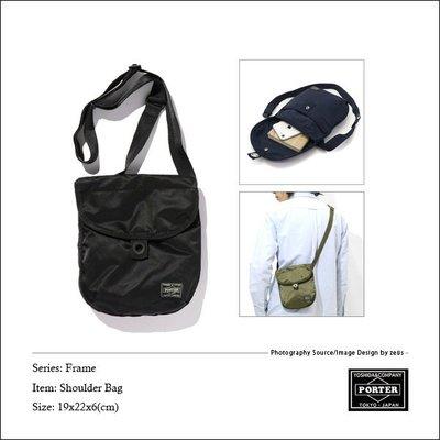 *ZEUS*日本吉田PORTER FRAME SHOULDER BAG 690-17850/日本製x防撕裂尼龍布x側背包