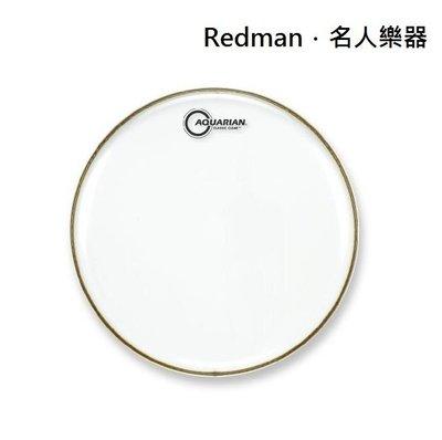 """【名人樂器 】AQUARIAN CC-18 鼓皮 Classic Clear 18"""" 油面 單層"""
