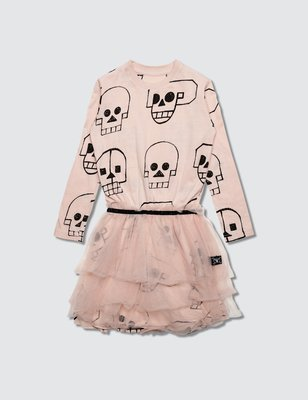 NUNUNU-Skull Robot Tulle Dress