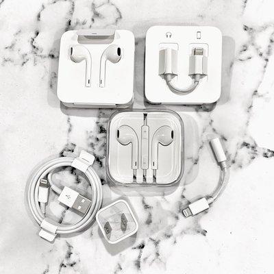 台中面交 IPhone原廠 Apple Lightning 對 3.5mm 耳機插孔轉接器 傳輸線 充電線 充電頭 耳機
