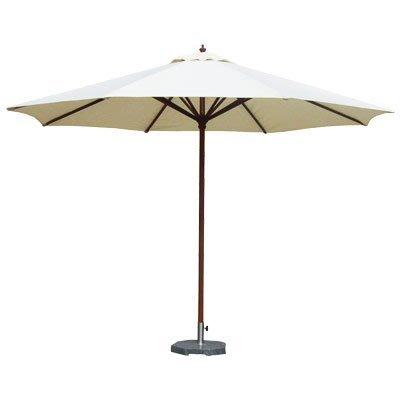 【舒福家居】7尺木傘/庭園傘/戶外遮陽傘/印尼木/台灣製防潑水布/米白色