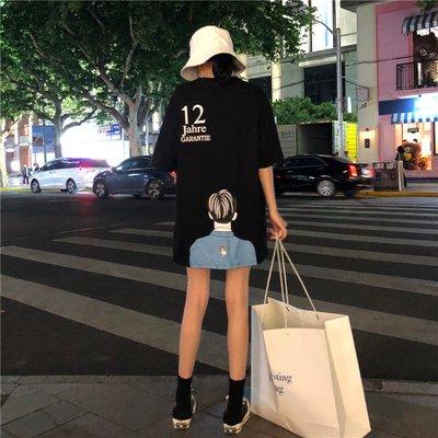 2018夏季超火韓版原宿寬松百搭趣味字母印花潮 短袖T恤學生女