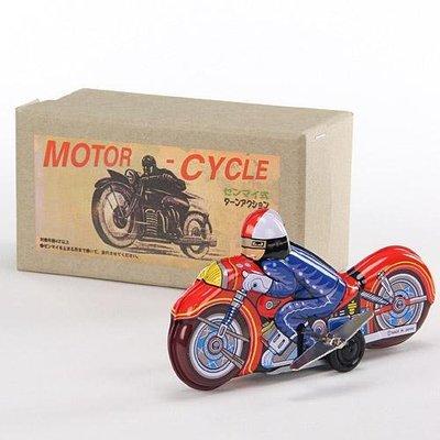 ◎Life Sense◎【葛飾工場】日本製發條式復古鐵皮摩托車 懷舊玩具 MOTO-CYCLE