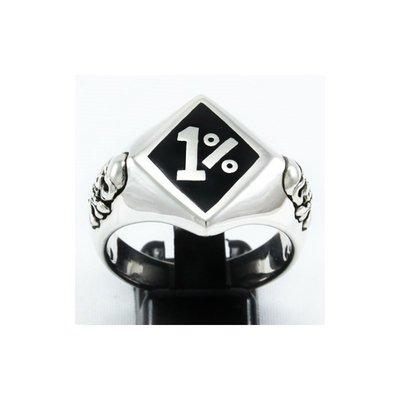 銀革手作 925 純銀 琺瑯 1%  骷髏 戒指