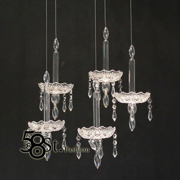 【58街】米蘭設計師款式「夢幻婚禮水晶吊燈,5燈款」複刻版。GH-279