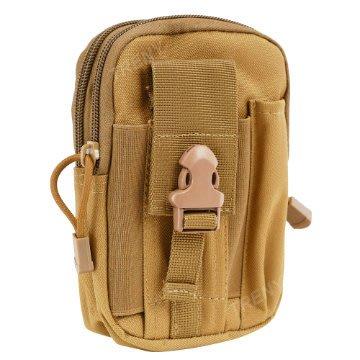 【TRENY直營】戰術手機腰包-卡其 迷彩包 背包 運動腰包 生存遊戲 水電工 1525-2
