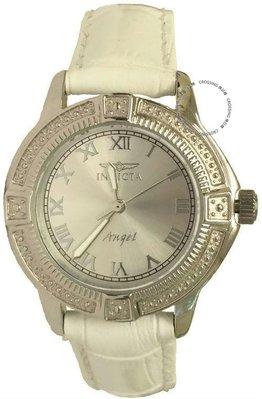 展示品 Invicta 14933 Winter Bliss Angel Silver tone Womens Leather Strap Watch 台中市