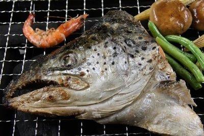 【中秋烤肉食材】鮭魚頭(含魚下巴)半顆 /約455g±5%