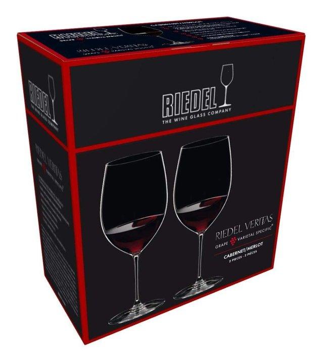 Riedel VERITAS 系列 CABERNET/MERLOT 紅酒杯 625ml-2入 6449-0 水晶杯 葡萄