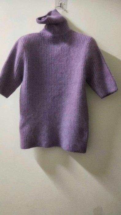 紫色系 開什米爾羊毛 高翻領