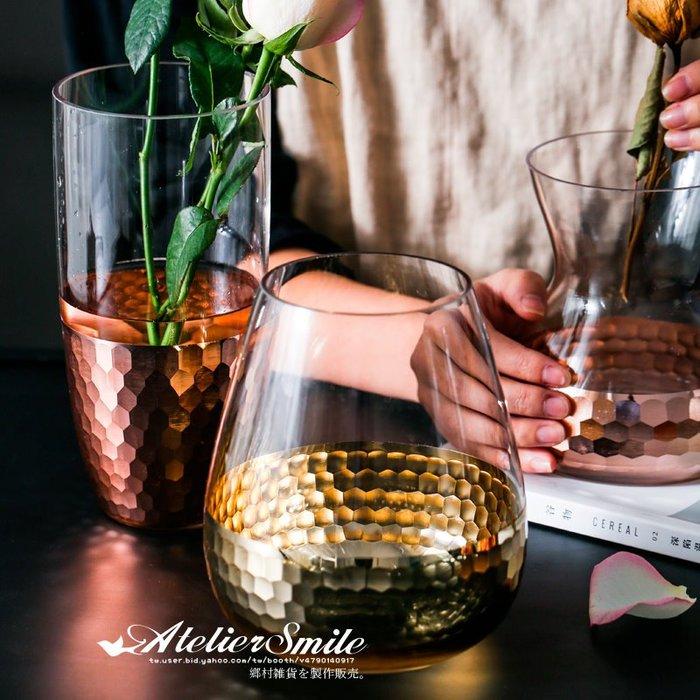 [ Atelier Smile ] 鄉村雜貨 北歐風 電鍍金箔玻璃花瓶 家居裝飾 擺設  # 高直款 (現+預)