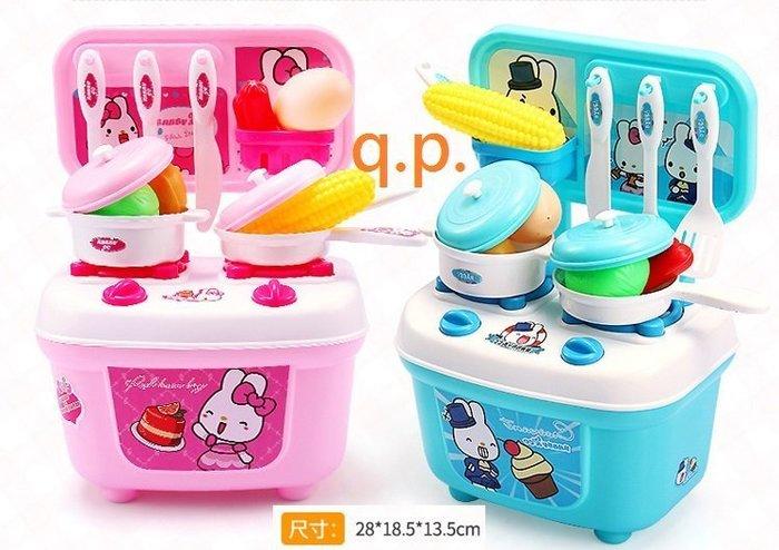 現貨 小孩嬰幼兒童益智扮家家酒 玩具 DIY組裝瓦斯爐灶模型廚房切切樂擬真食品切切看遊戲食物套餐料理 寶寶生日禮物儲物盒