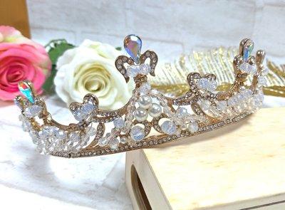 ✩像極了愛情~婚紗配飾✩ 髮飾 女王 新娘皇冠 公主 優雅 生日 公主裝扮 表演必備 活動女主角 皇冠 附贈禮盒