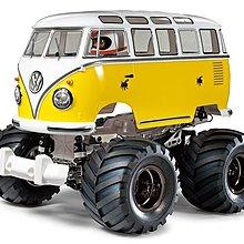 TAMIYA 1/12 Volkswagen Type 2 T1 Wheelie 遙控車 (電鍍黑色輪框) 84373