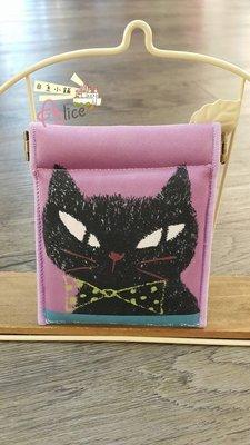 ☆愛莉詩☆∴☆°日本直購~貓咪塗鴉帆布收納袋-磁釦開合~現貨中~