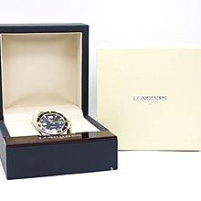 【高雄青蘋果3C】浪琴 HydroConquest 深海征服者雙色浪鬼機械腕錶 L37423967 藍面 #57293