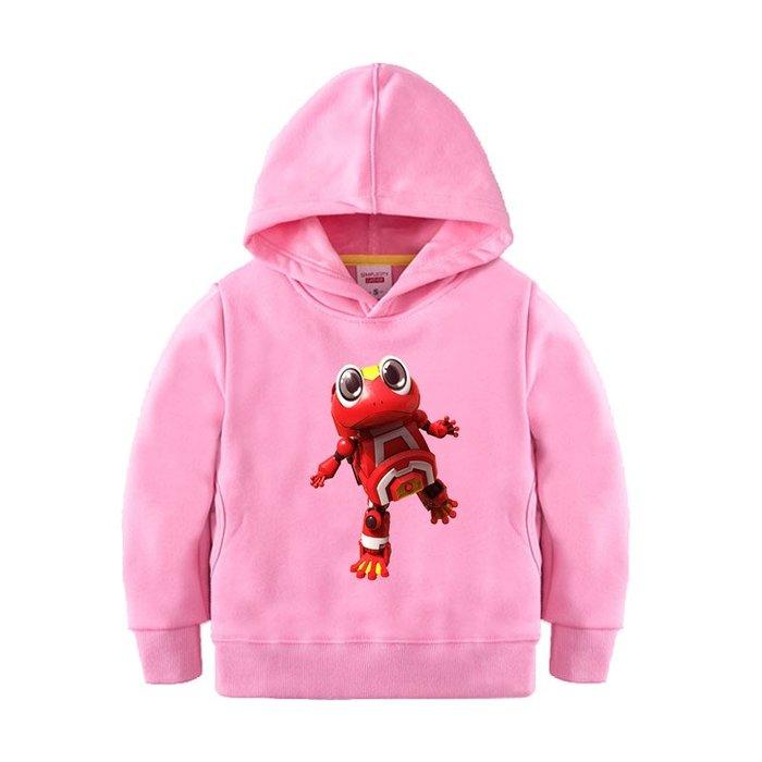 【童裝】韓版男童裝連帽加絨厚保暖上衣純棉青蛙快樂酷寶女童中小童兒童百搭衛衣服