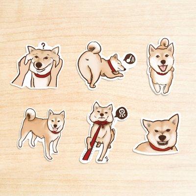 《柴犬I》/ 原創-防水貼紙包 1組(...