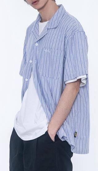 FINDSENSE X 男款 時尚 寬鬆舒適日系 純色短袖衫衣   袖男 女士襯衫 衛衣 條紋襯衫上衣