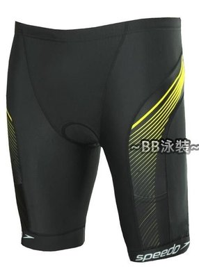 ~BB泳裝~ 2015 SPEEDO成人三鐵短褲 Comp SDSOJ15105 黑-黃