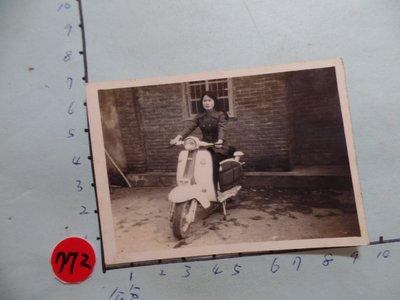 偉士牌,老機車,摩托車,古董黑白,照片,相片2