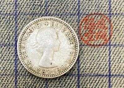 【隱逸空間】  1960年   英屬   澳大利亞     6 pence  銀幣   VF~