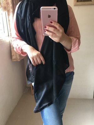 夢夢園SUPERFINE^^特級輕暖特訂款SHAMINA STOLE高級素色羊毛加大披肩200x100CM/ 正黑色