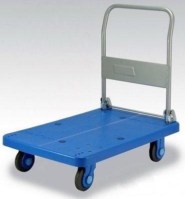 最好用 日本KANATSU原裝超靜音手推車PLA300-DX,91*60cm承載300公斤,塑鋼平板車拖車搬家發財車
